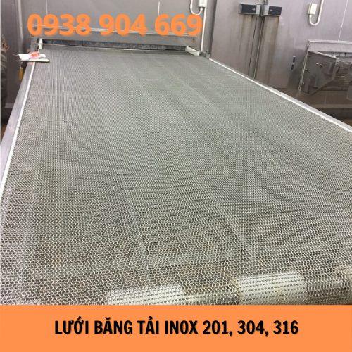 Băng tải lưới Inox 201, 304, 316